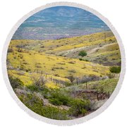 Wildflower Meadows Round Beach Towel