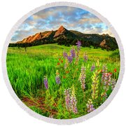 Wildflower Mix Round Beach Towel