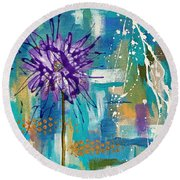Wildflower No. 1 Round Beach Towel