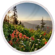Wildflower View Round Beach Towel
