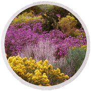 Wildflowers El Prado Nm Round Beach Towel
