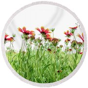 Wildflowers In Geogia Round Beach Towel