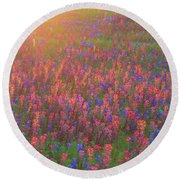 Wildflowers In Texas Round Beach Towel