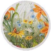 Wildflowers-jp3254 Round Beach Towel