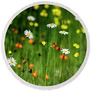 Wildflowers2 Round Beach Towel