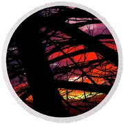 Wildlight Round Beach Towel