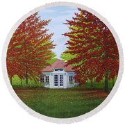 Round Beach Towel featuring the painting Wildrush by Kenneth M Kirsch