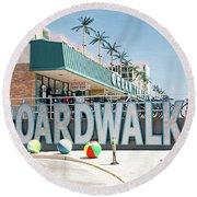 Wildwood Boardwalk Round Beach Towel