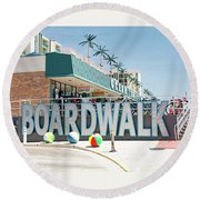 Wildwood Boardwalk Round Beach Towel