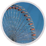 Wildwood Ferris Wheel Round Beach Towel