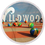 Wildwoods Round Beach Towel