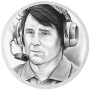 Will Muschamp Round Beach Towel