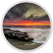 Will Of The Wind Round Beach Towel by Peter Tellone