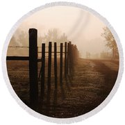 Will They Be Mist Round Beach Towel by Robert Meanor