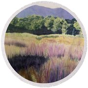 Willamette Meadow Round Beach Towel