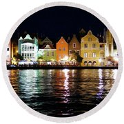 Round Beach Towel featuring the photograph Willemstad, Island Of Curacoa by Kurt Van Wagner