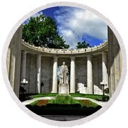 Round Beach Towel featuring the photograph William Mckinley Memorial 002 by George Bostian