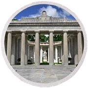 Round Beach Towel featuring the photograph William Mckinley Memorial 003 by George Bostian