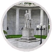 Round Beach Towel featuring the photograph William Mckinley Memorial 004 by George Bostian