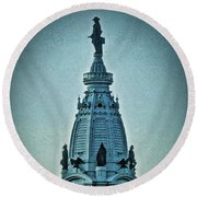 William Penn On Top Round Beach Towel