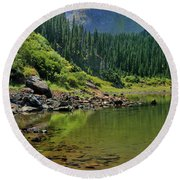 Williams Lake Round Beach Towel