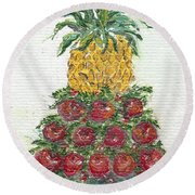 Williamsburg Apple Tree Round Beach Towel