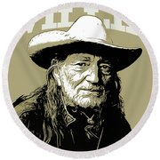 Willie Round Beach Towel