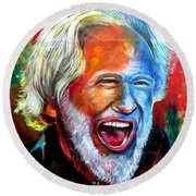 Willie's Buddy Round Beach Towel by Ken Pridgeon