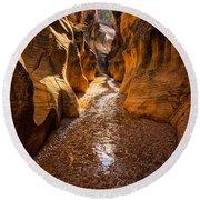 Willis Creek Slot Canyon 2 - Grand Staircase Escalante National Monument Utah Round Beach Towel