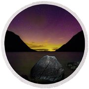 Willoughby Aurora And Boulder Round Beach Towel
