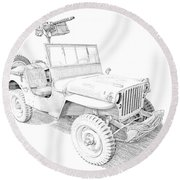 Willy In Ink Round Beach Towel