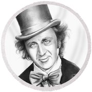 Willy Wonka Round Beach Towel