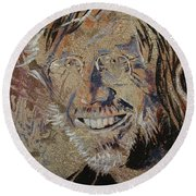 Round Beach Towel featuring the painting Wilson by Stuart Engel