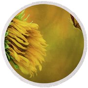 Wilted Round Beach Towel
