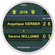 Wimbledon Scoreboard - Customizable - 2017 Muguruza Round Beach Towel