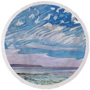 Wimpy Cold Front Round Beach Towel