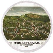Winchester New Hampshire 1887 Round Beach Towel