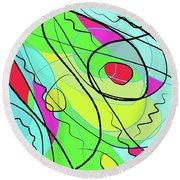 Wind And Leaves Round Beach Towel
