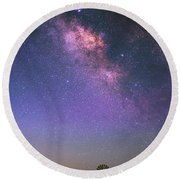 Round Beach Towel featuring the photograph Wind And Stars by Darren White