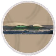 Wind And Waves Round Beach Towel