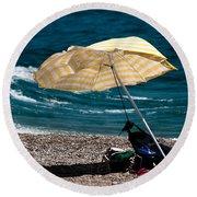 Wind  Round Beach Towel