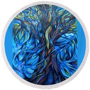 Wind From The Past Round Beach Towel
