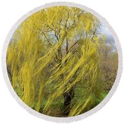 Wind In The Willow Round Beach Towel