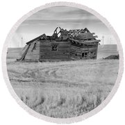 Round Beach Towel featuring the photograph Wind On The Plains by Fran Riley