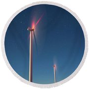 Round Beach Towel featuring the photograph Wind Power by Cat Connor