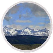 Dm9504-wind River Range Panorama  Round Beach Towel