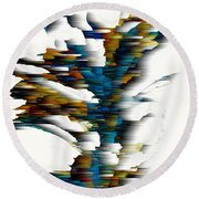 Round Beach Towel featuring the painting Wind Series 08.072311wscvss by Kris Haas