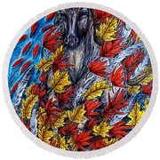 Wind Spirit Round Beach Towel