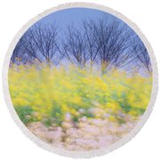 Wind Strokes Round Beach Towel