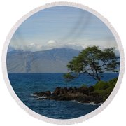 Wind Turbines - Maui Round Beach Towel